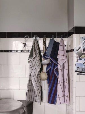 ferm LIVING ferm LIVING Hale Yarn Dyed Linen Tea Towels - Blue/Off White