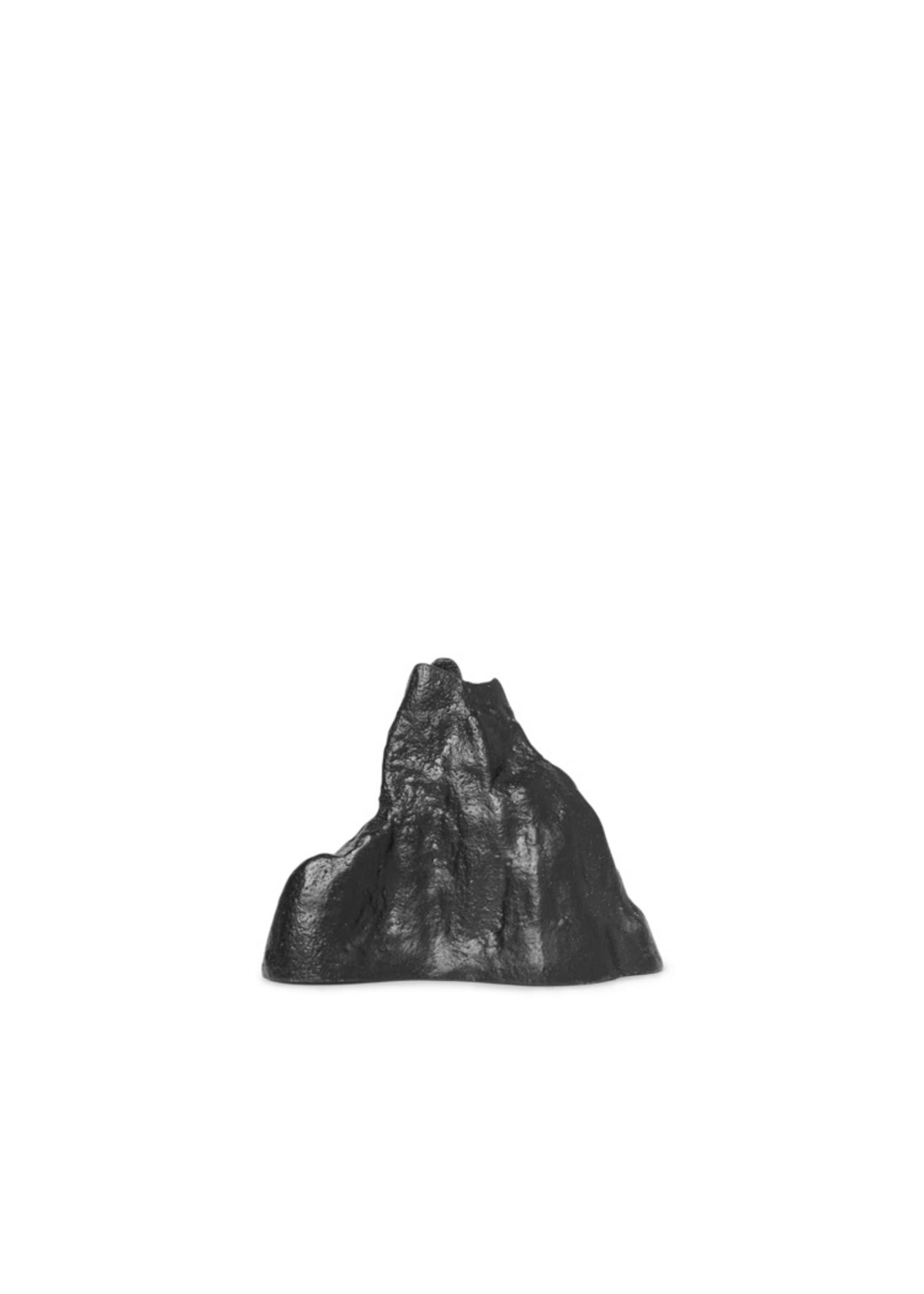 ferm LIVING ferm LIVING Stone Candle Holder - Small - Black Alu