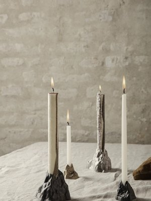 ferm LIVING ferm LIVING Stone Candle Holder - Small - Black Alu