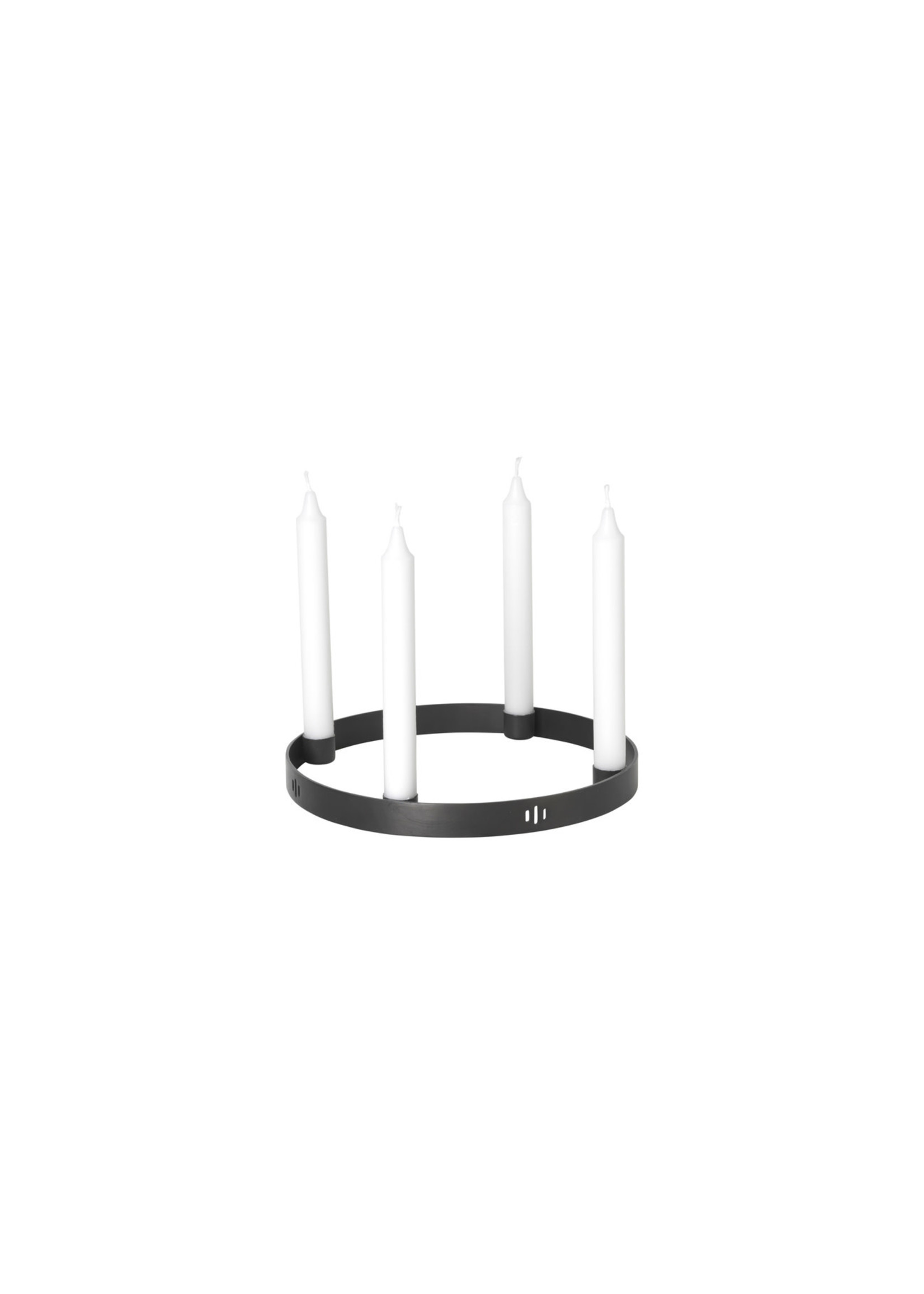 ferm LIVING ferm LIVING Candle Holder Circle - Small - Black Brass