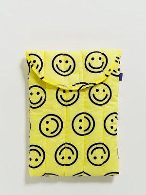 "Baggu Puffy Laptop Sleeve 13"" - Yellow Happy"