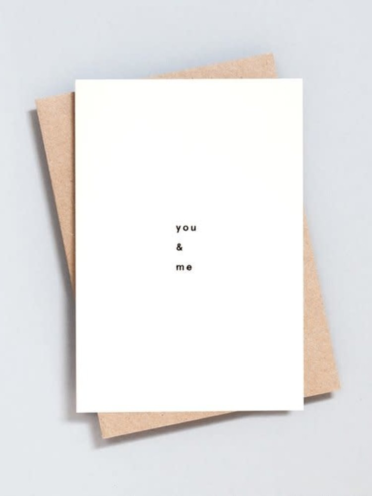 Ola Ola Foil Blocked Card Minimal Collection - You and Me Print in Natural/Black