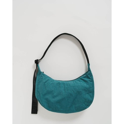 Baggu Medium Nylon Crescent Bag - Malachite