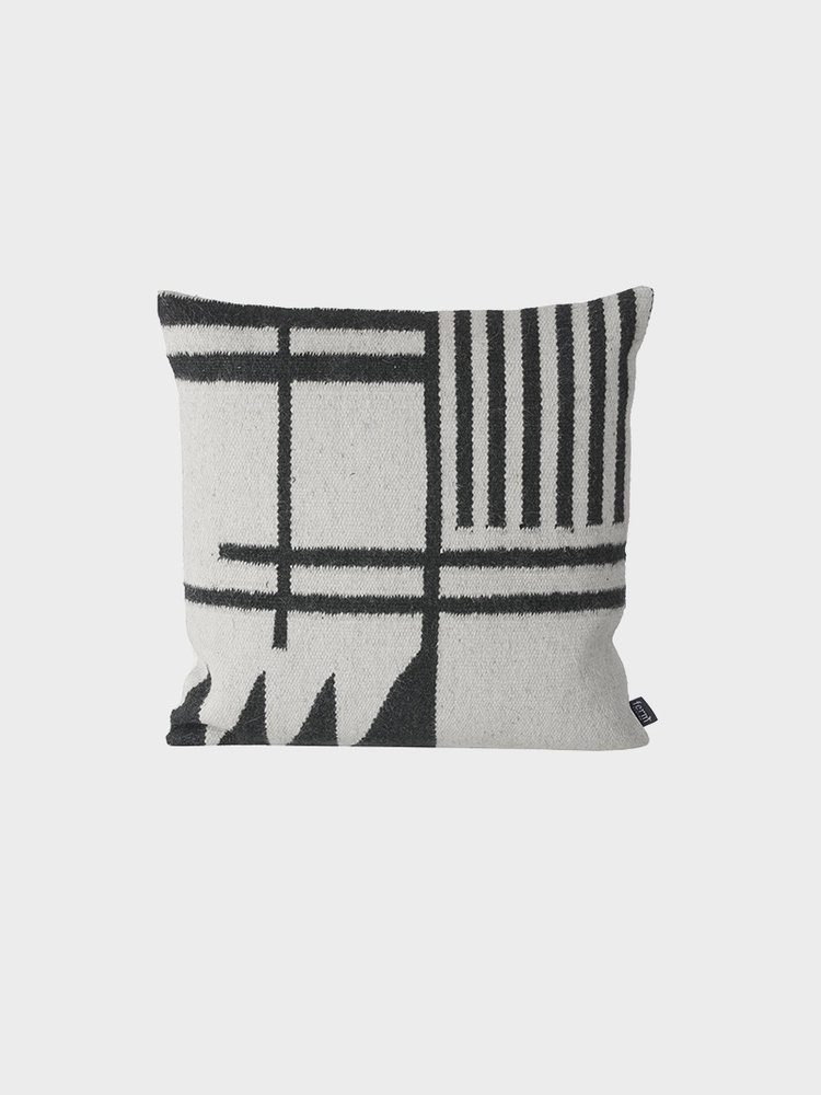 ferm LIVING Ferm Living Kelim Cushion - Black Lines