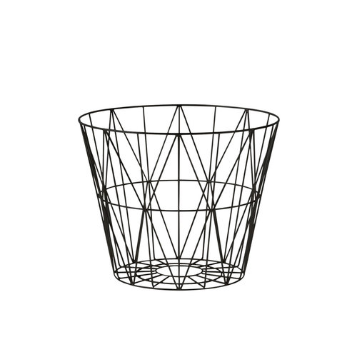 ferm LIVING Wire Basket Black Medium