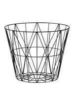 ferm LIVING Wire Basket Black Large