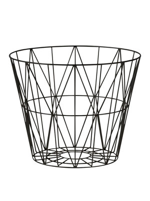 ferm LIVING Wire Basket Black Large