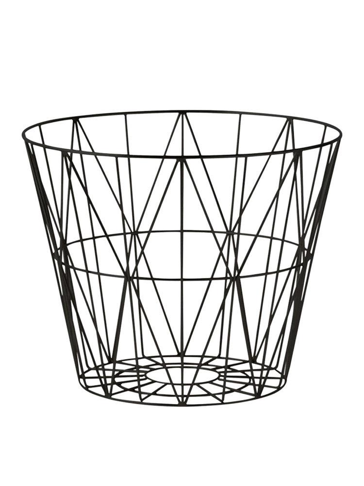 ferm LIVING Ferm Living Wire Basket Black Large