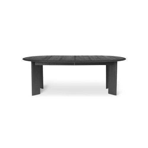ferm LIVING Bevel Table - Extendable x 2 - Black Oiled Oak