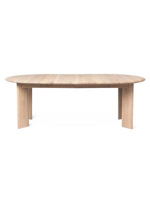 ferm LIVING Bevel Table - Extendable x 2 - White Oiled Oak