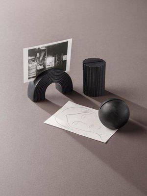 ferm LIVING ferm LIVING Card Stand - Column - Black Brass