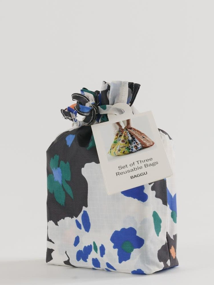 Baggu Baggu Standard Reusable Bag - Set of 3 - Archive Florals
