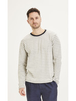 KnowledgeCotton Locust striped long sleeve - Total Eclipse