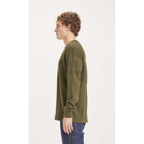 KnowledgeCotton KnowledgeCotton Field bobble knit - Forrest night