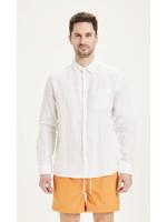 KnowledgeCotton Larch Long Sleeve linen shirt