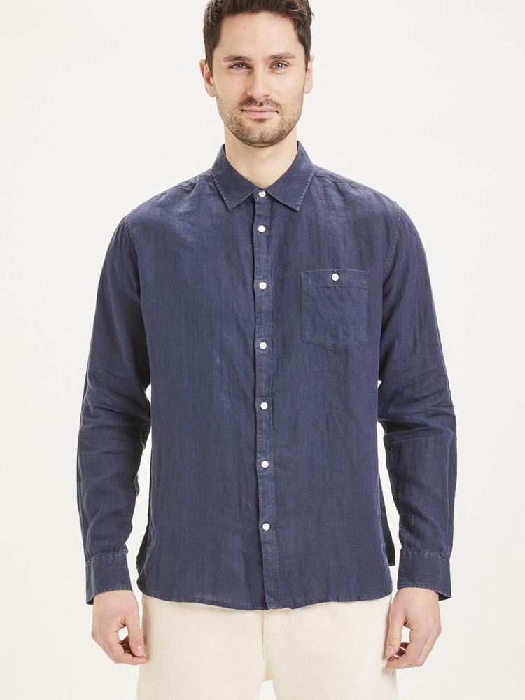 KnowledgeCotton KnowledgeCotton Larch LS linen shirt