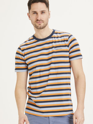 KnowledgeCotton KnowledgeCotton Alder Triple Striped T-shirt