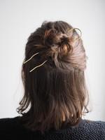 Roake The 'Lizzy' Brass Hairpin - Wavy