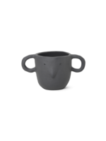 ferm LIVING Mus Plant Pot - Dark Grey - Small