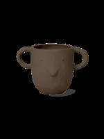 ferm LIVING Mus Plant Pot - Red Brown - Large