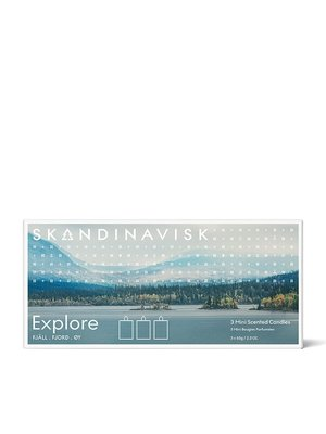 SKANDINAVISK Candle Giftset- Explore (Fjäll, Fjord, Øy) 3 x 65g