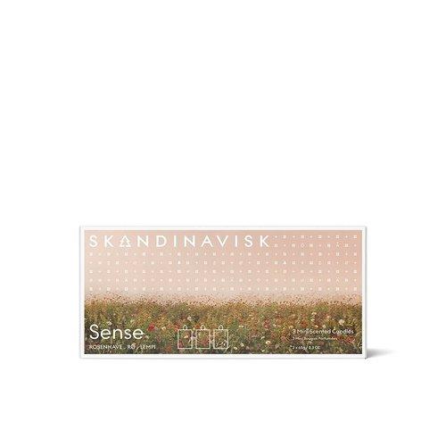 SKANDINAVISK Candle Giftset - Sense (Rosenhave, Ro, Lempi) 3 x 65g