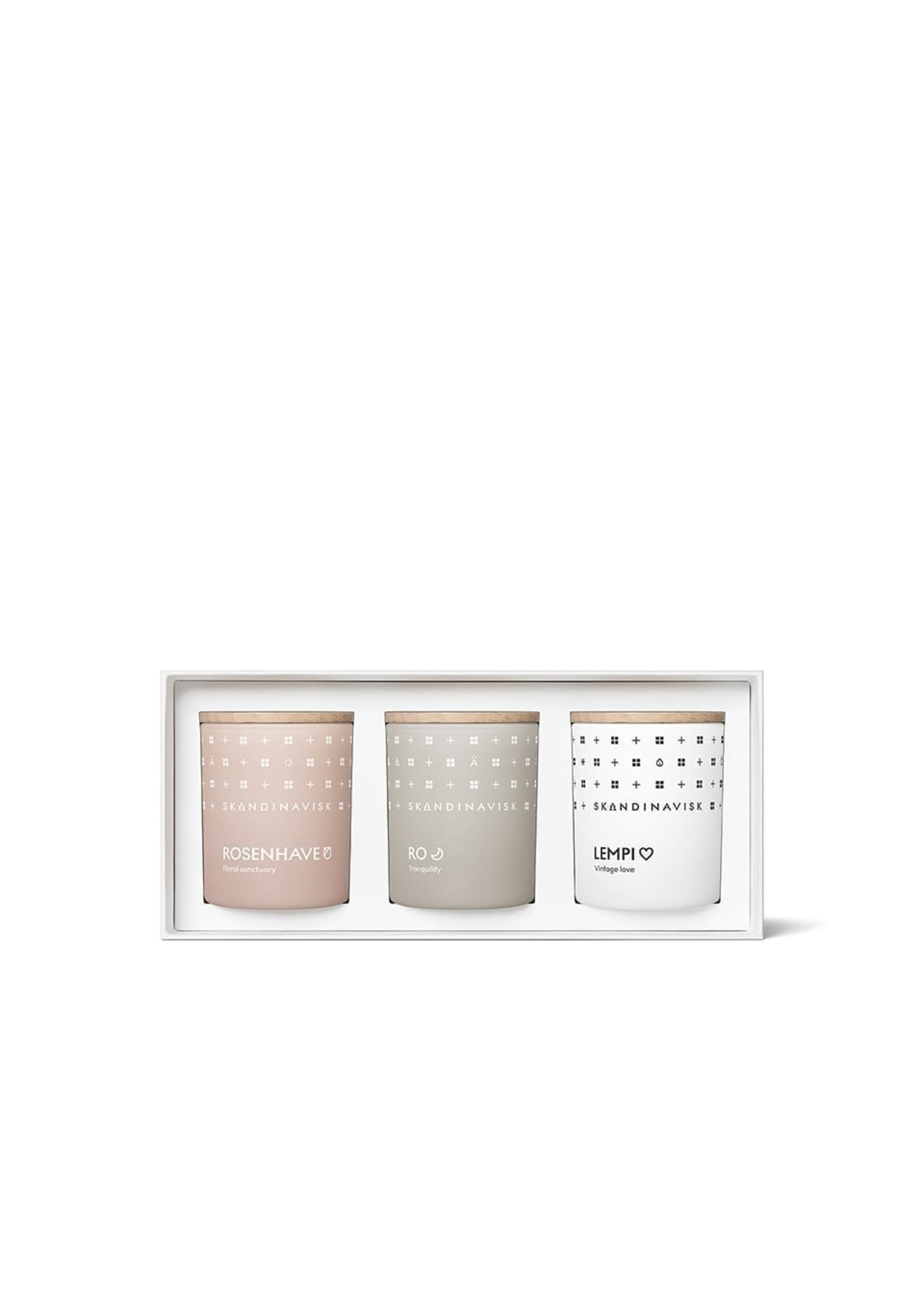 SKANDINAVISK Skandinavisk Candle Giftset - Sense (Rosenhave, Ro, Lempi) 3 x 65g