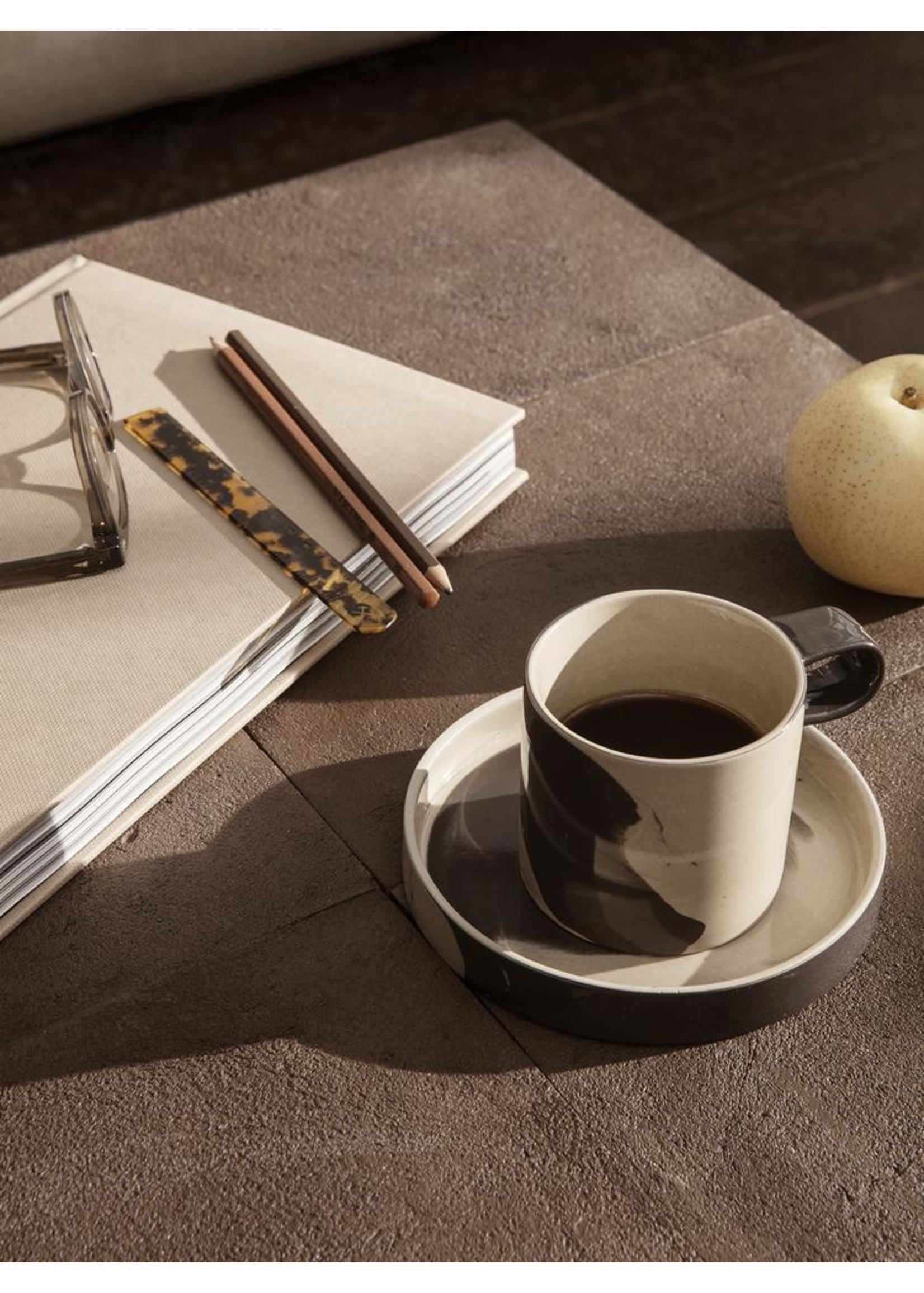 ferm LIVING ferm LIVING Flod Café Table-Mocha/Black