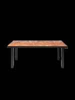 ferm LIVING Flod Dining Table-Terracotta/Black