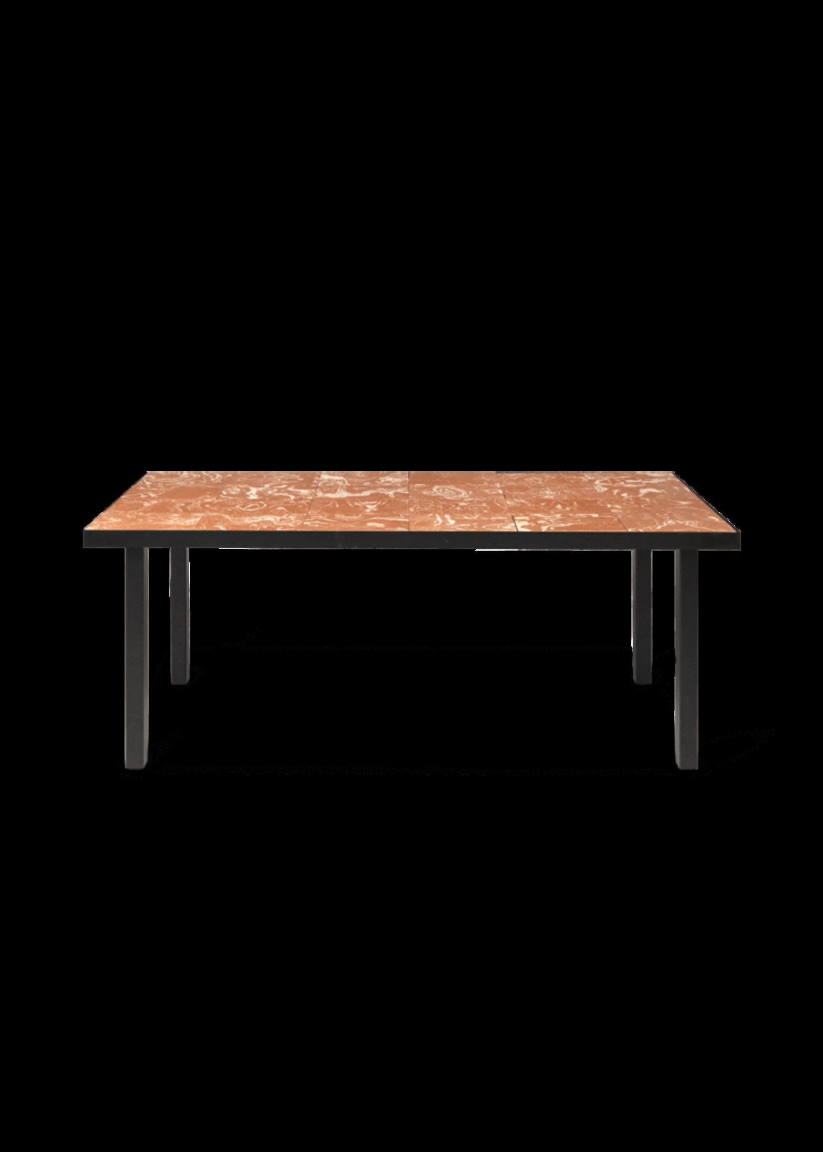 ferm LIVING ferm LIVING Flod Dining Table-Terracotta/Black