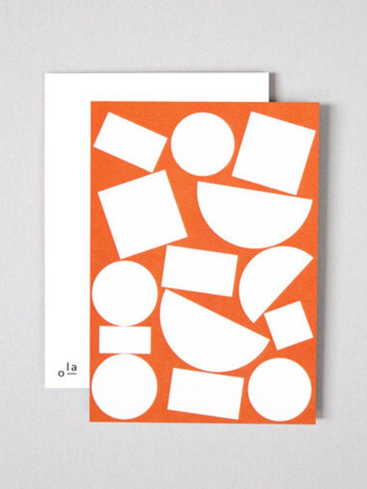 Ola Ola, Celebrating Bauhaus, Limited Edition Pack of 8 Postcards, Blocks Print