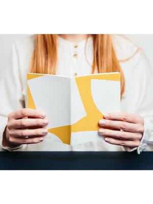 Ola Ola,  Limited Edition Pocket Layflat Weekly Planner, Blocks Print in Mustard