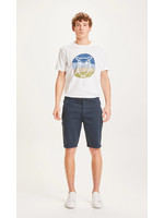 KnowledgeCotton Chuck regular chino shorts - Total Eclipse