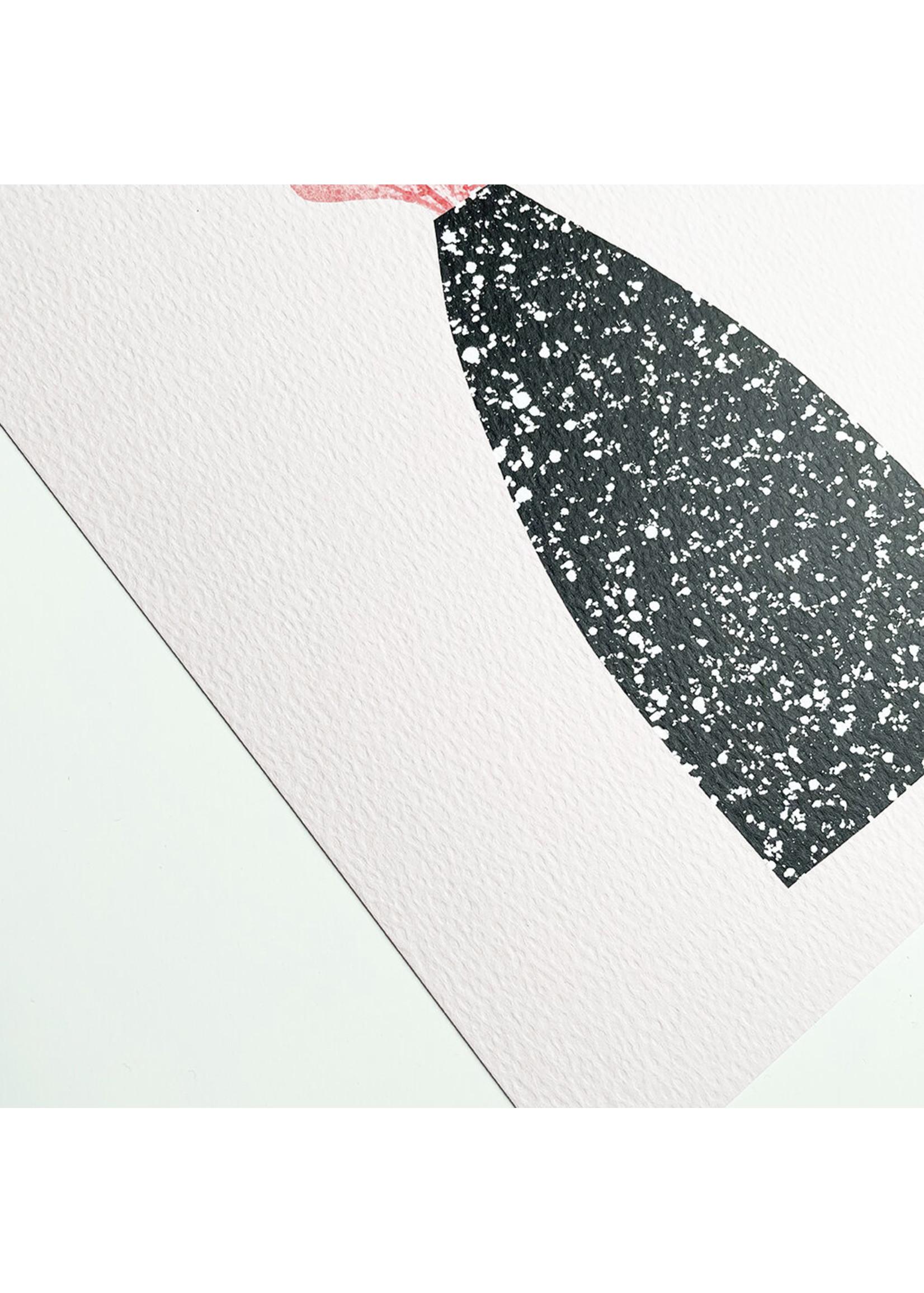 Melissa Doone Melissa Doone Leaves in Speckled Vase A3 Print