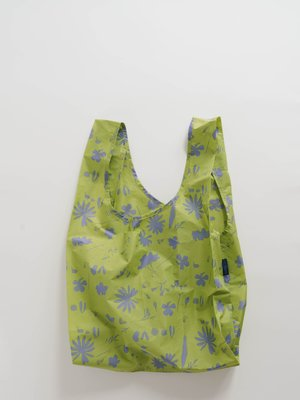 Baggu Standard Reusable Bag - Lime Floral Sun Print