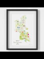 Holly Francesca Map of Buckinghamshire A4