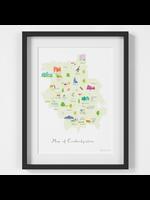 Holly Francesca Map of Cambridgeshire A4