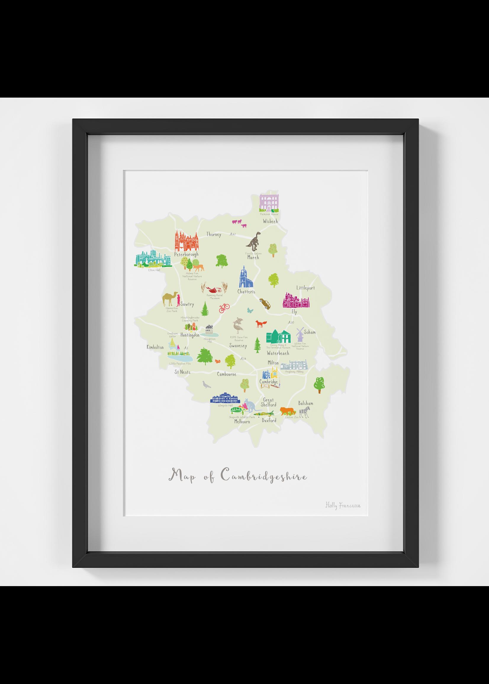 Holly Francesca Holly Francesca Map of Cambridgeshire A4