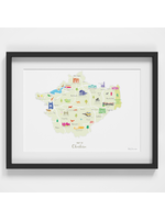 Holly Francesca Map of Cheshire A4