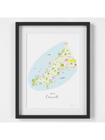 Holly Francesca Map of Cornwall A4