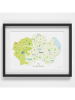 Holly Francesca Map of County Durham A4