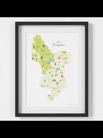 Holly Francesca Map of Derbyshire A4
