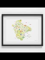 Holly Francesca Map of Dorset A4
