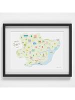 Holly Francesca Map of Essex A4