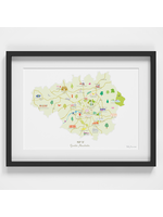 Holly Francesca Map of Greater Manchester A4