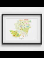 Holly Francesca Map of Hampshire A4