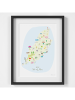 Holly Francesca Map of Isle of Man A4