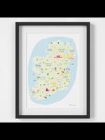 Holly Francesca Map of Ireland A4
