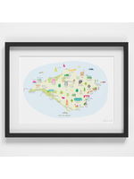 Holly Francesca Map of Isle of Wight A4