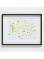 Holly Francesca Map of Jersey A4